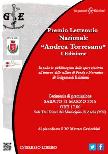 Locandina Premio Torresano I Edizione