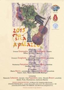programma concertistico palazzo