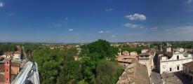 veduta dal belvedere urbano di Castel Goffredo